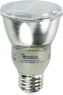 Overdrive 11W//ODPAR20//27K Pack 35-Watts Equivalent Incandescent, 11W PAR20 Reflector Compact Fluorescent Light Bulb, gt80 CRI, Warm White 12 Piece