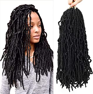 Nu Locs Crochet Braids 18inch Most Natural Faux Locs Crochet Braid 6 Packs/lot Goddess 100% Premium Fiber Synthetic Hair African Roots Hair Extensions
