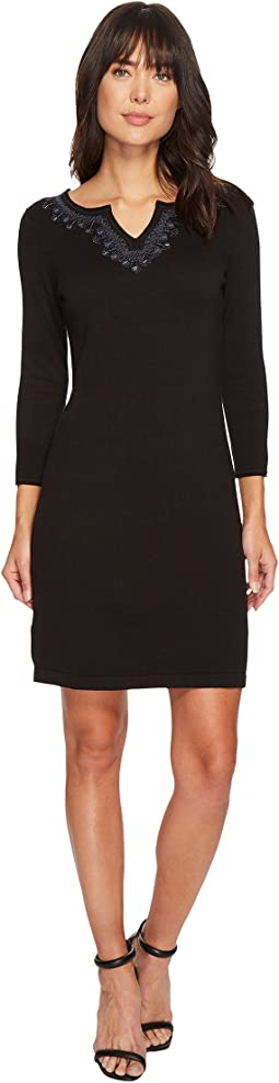 Tommy Bahama - Pickford Embroidered Split-Neck Dress