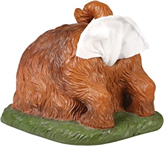 WHAT ON EARTH Digging Dog Butt Tissue Holder - Funny Square Shaped Tissue Box Cover