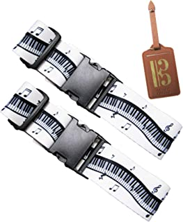 Music Office Luggage Strap Suitcase Straps Travel Belts Accessories + Name Tag …