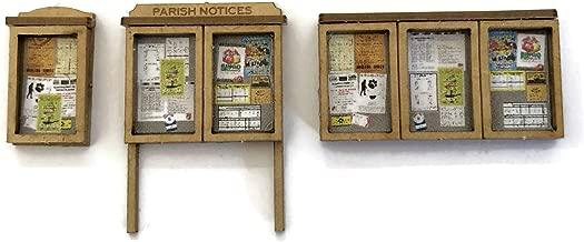 Pack of 6 For OO Gauge Scale Model Scenery LX239-OO Parish 1:76 Scale Village Noticeboards