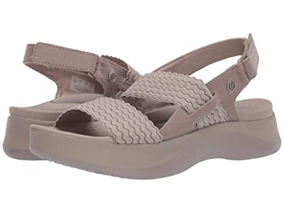 Bzees Plush (Simply Taupe Wavy Stripe) Women