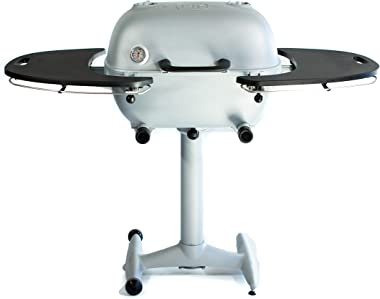 PK Grills PK360 Outdoor Charcoal Grill and Smoker Combination , Silver