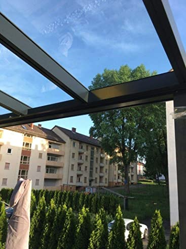 VITRO - Cubierta para terraza (Cristal auténtico, Aluminio, 7 x 4, 6 x 3, 5 x 3, 5 x 3,5 m)