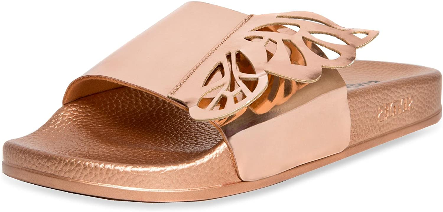 Slydes - SS18 Wings pink gold Women's Slider Sandals RRP  35