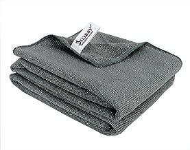 SOBBY Microfiber Car Cleaning,Detailing & Polishing Cloth - Set of 2-300 GSM (50 cm x 50 cm, Grey)