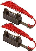 DOITOOL 2 stuks vintage Chinese hangsloten legering antieke sleutel slot decoratieve sieradendoos ladekast grendel Chinese...