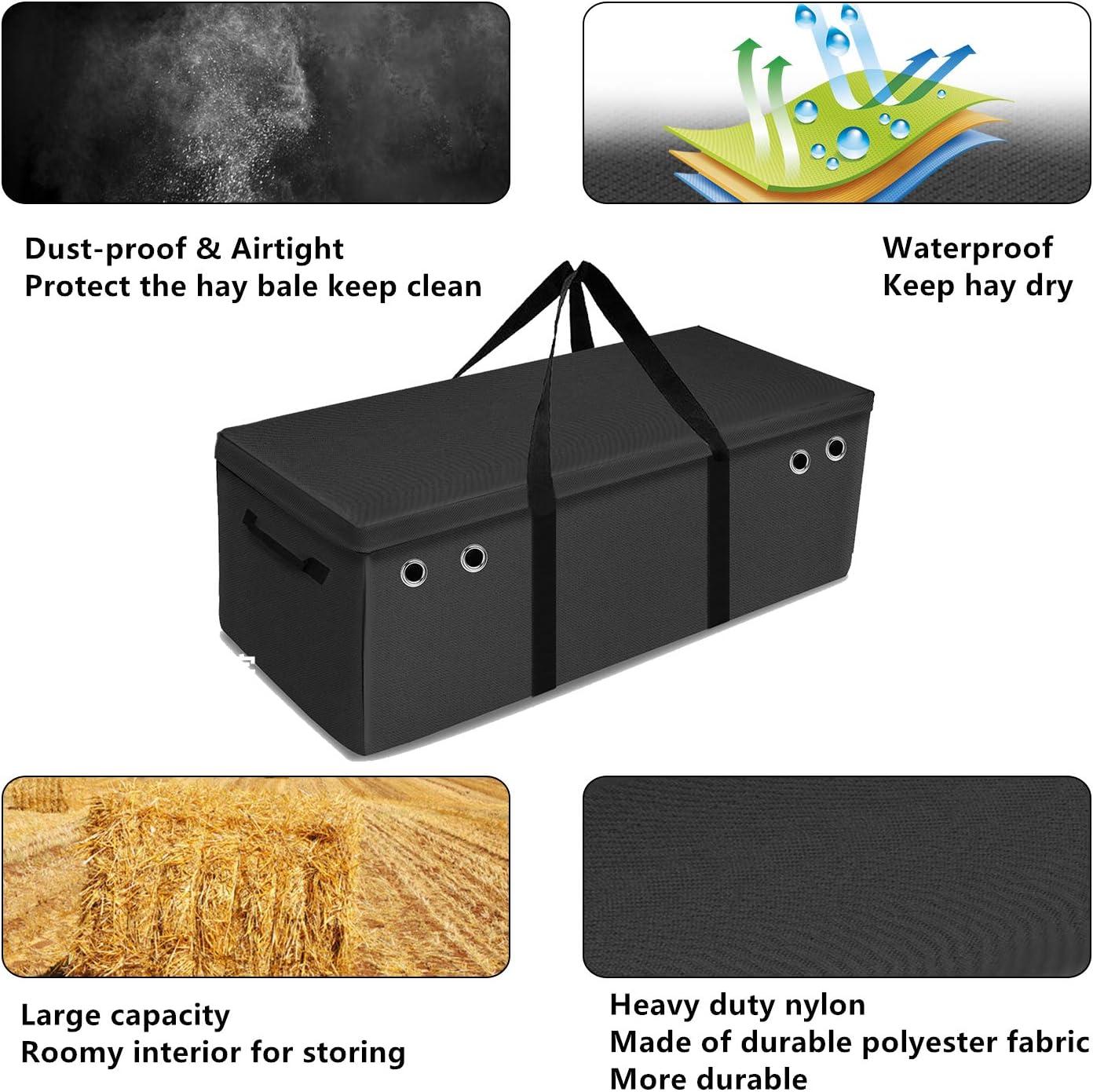 Zipper Large Storage Hay Bale Carry Bag,Purple TOKSKS Hay Bale Bag