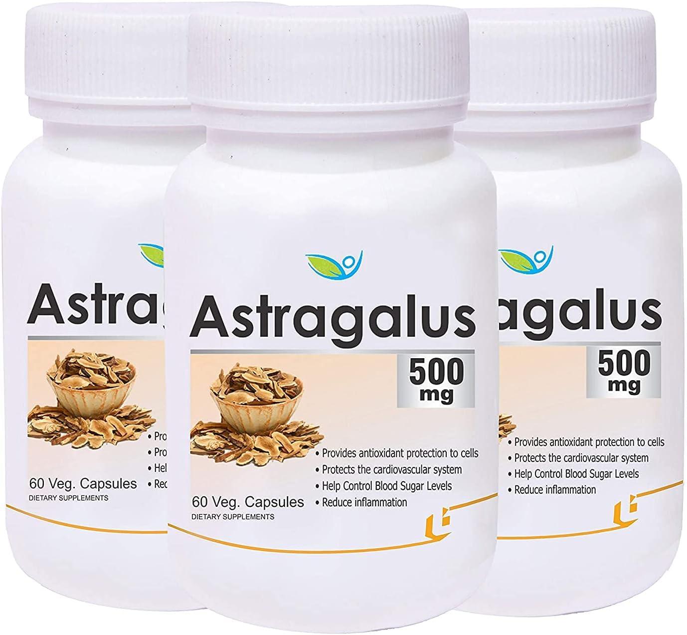Panihari Gifts Biotrex Astragalus 500mg - 60 Pack Capsules of Veg 3 Large discharge sale