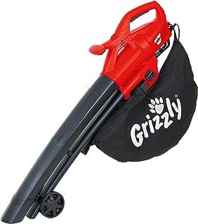 Grizzly Elektrische 3-in-1 bladzuiger, bladblazer, hakselaar, EL 2800 blaassnelheid, 270 km/u, 2800 watt, grote wielen met...