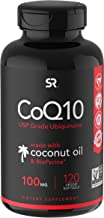 CoQ10 Enhanced with Organic Coconut Oil & Bioperine (Black Pepper) | Vegan Certified and Non-GMO Verified | 120 Veggie-gels, 3 Month Supply!