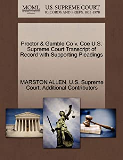 Proctor & Gamble Co V. Coe U.S. Supreme Court Transcript of Record with Supporting Pleadings