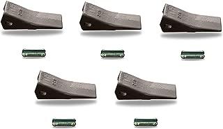 24/240/2400 John Deere, Case, Backhoe Bucket Teeth W/ 24FP Flex Pins (SET OF 5)