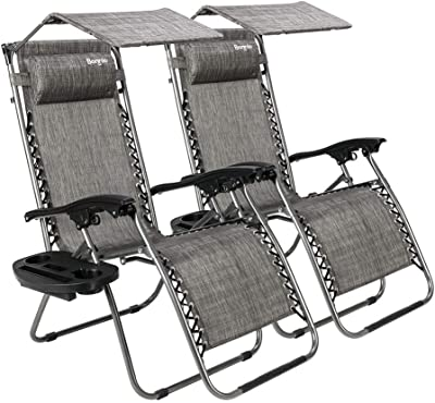 Phenomenal Amazon Com Best Choice Products Set Of 2 Adjustable Zero Cjindustries Chair Design For Home Cjindustriesco