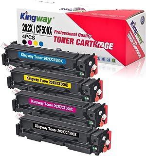خراطيش حبر متوافقة مع HP 202X 202A مع Kingway استبدال ترقية ل HP CF500X CF500A عالي الإنتاج، لجهاز HP Laserjet Pro MFP M28...