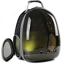 shine-hearty Cat Backpack Translucent Breathable Dog Carrier Bag Outdoor Pet Travel Carrier Bag Cat Space Capsule Carrier