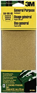 3M 9019 General Purpose Sandpaper Sheets, 3-2/3-Inch by...