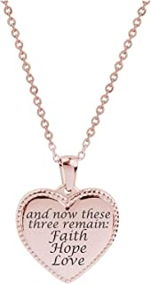 Rose Gold Purpose of Life Pink Box Bezeled Disc Inspiration Necklace