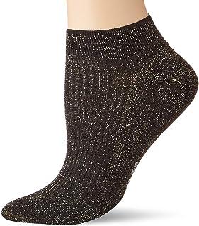 FALKE Sneaker Shiny Rib Baumwolle Damen schwarz grau viele weitere Farben verstärkte Sneakersocken mit Muster atmungsaktiv dünn gerippt mit Glitzer 1 Paar