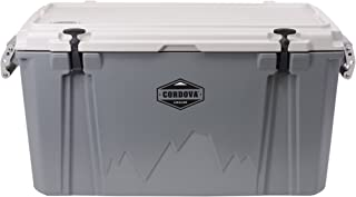 CORDOVA 100 Large Cooler - Hard Sided Rotomolded Ice Chest with 88 Quart Capacity & Built In Bottle Opener - Made in the USA