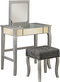 Linon Silver Harper Vanity Set, 32