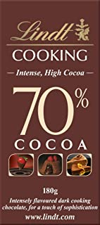 Lindt Cooking Intense Chocolate 70% Cocoa Chocolate, 180 gm (Pack of 1)