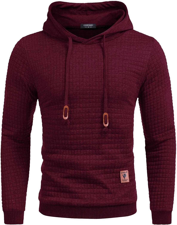 COOFANDY Men's Long-awaited Sweatshirt Hipster Gym Sleeve Hoo Drawstring Regular dealer Long