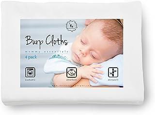 DorDor & GorGor Ongaic XL Burp Cloth,Flat Cloth Diapers, Baby washcloths, swaddles and Bibs, Bamboo Viscose, White, Ultra ...