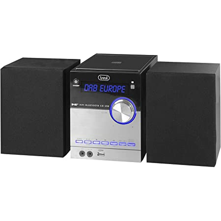 CD USB Mp3 Trevi HCV 10D35 DAB Sistema Hi-Fi con Ricevitore Digitale DAB // DAB+ Installazione a Tavolo o Parete Bluetooth Sportello CD Motorizzato
