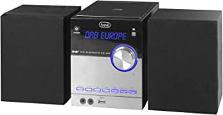 Trevi Hcx 10D8 Dab estéreo Hi-Fi con Receptor Digital Dab/Dab+ y FM con RDS, Pantalla alfanumérica LCD, Bluetooth, CD, Mp3...