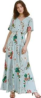 Pintage Women's Flowy Boho Dress Floral Maxi Dress