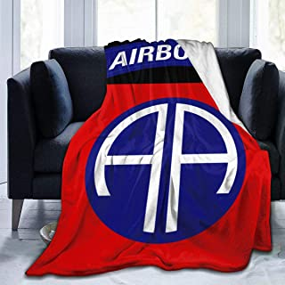 MyHaru Ultra-Soft Micro Fleece Blanket, 82nd Airborne Division Military Logo Blanket for Adults Children 50