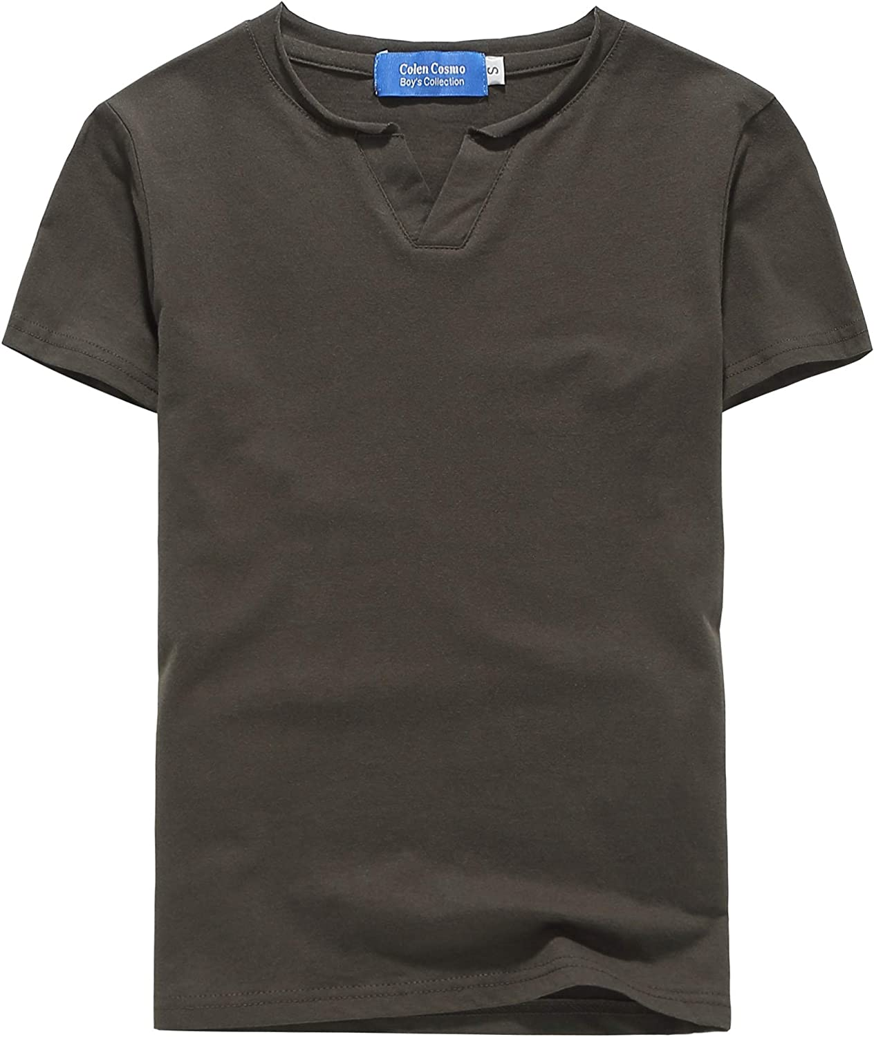 Colen Cosmo Big Boys Tshirts V Neck Tee Casual Cotton Short Sleeve T Shirts for Kids