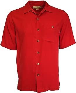 Estee Lauder Beyond Paradise Mens 100% Silk Solid Shirt
