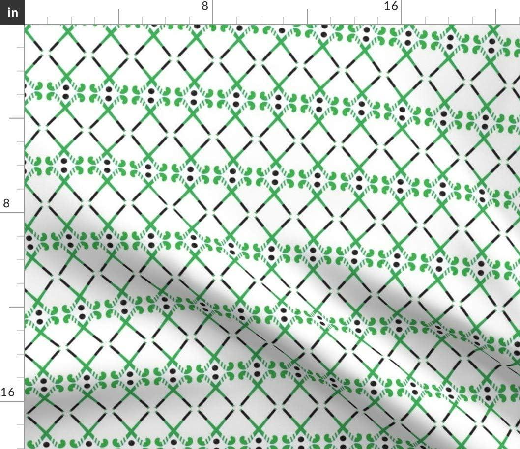 Spoonflower Fabric - Hockey Sticks Green Field Black White Print Max New arrival 62% OFF