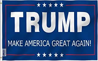 Anley Fly Breeze 3x5 Foot Donald Trump Flag - Vivid Color and UV Fade Resistant - Canvas Header and Double Stitched - The 45th U.S. President Flags Polyester with Brass Grommets 3 X 5 Ft