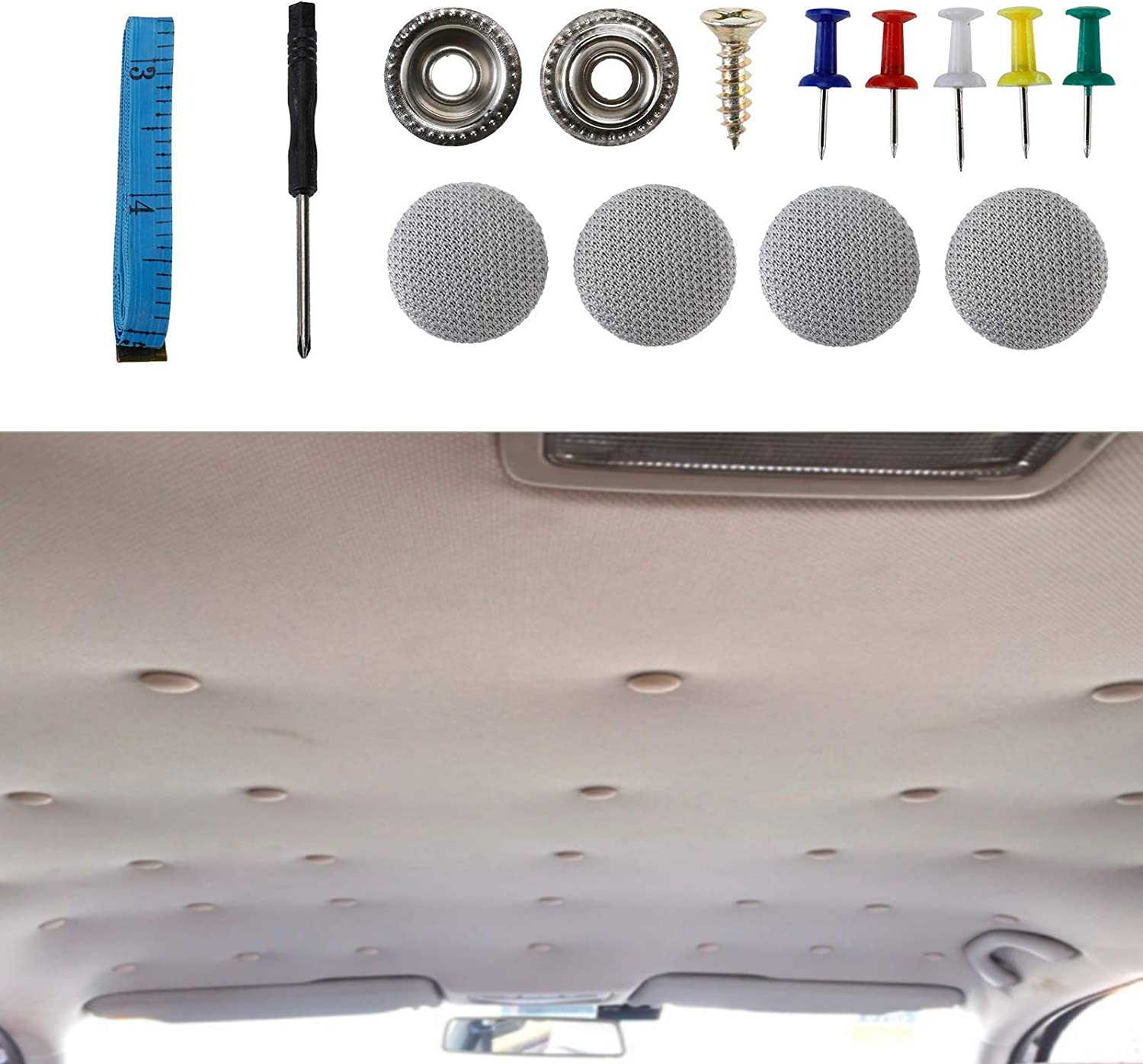 XMSound 70pcs Car Roof Headliner Button Soldering Auto R Repair Super Special SALE held Snap
