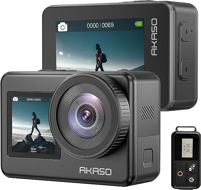 67 opinioni per AKASO Action Cam 4K 30FPS Impermeabile Subacquea, WiFi Sports Cam Doppio Display