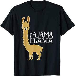 Funny and Cute Pajama Llama Bed Time Pyjama Gift T-Shirt