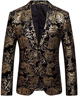 BoBoLily Men's Blazer Exquisite Casual Business Printed Patterned Prom Wedding Suit Slim Fit Suit Jacket Tuxedos