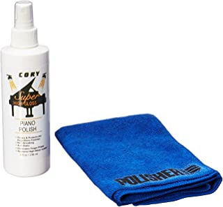 Super High Gloss Piano Polish Bundle - 8oz bottle w/Microfiber Polishing Cloth - Distributed by A Fully Authorized Cory Products Dealer