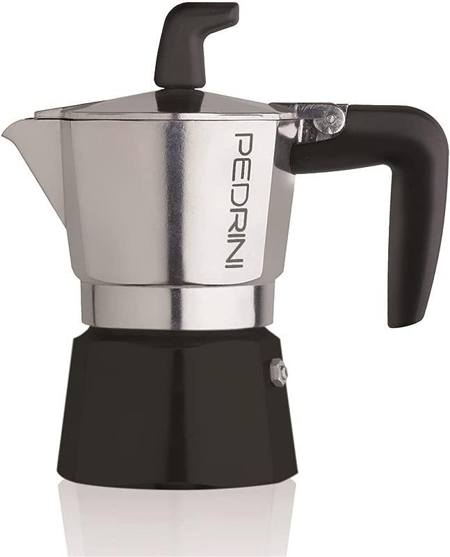 Pedrini Sei Moka 2 Cups Espresso Coffee Pot Polished Aluminium