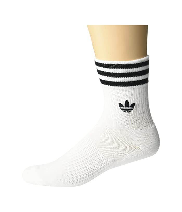 70s Workout Clothes | 80s Tracksuits, Running Shorts, Leotards adidas Originals Originals 3-Stripes Welt Mid-Crew Sock 1-Pack WhiteBlack Mens Crew Cut Socks Shoes $9.99 AT vintagedancer.com