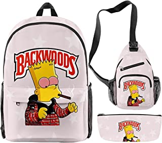 Backwoods 3PCS Teens Backpack with Travel Shoulder Bag and Pencil Box , 15.6 inch Laptop Daypack Casual Bags Set