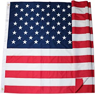 DLORY 6x10 FT American Flag Deluxe Long Lasting Outdoor US Flag Fade Resistant Embroidered Stars and Sewn Stripes USA Flag