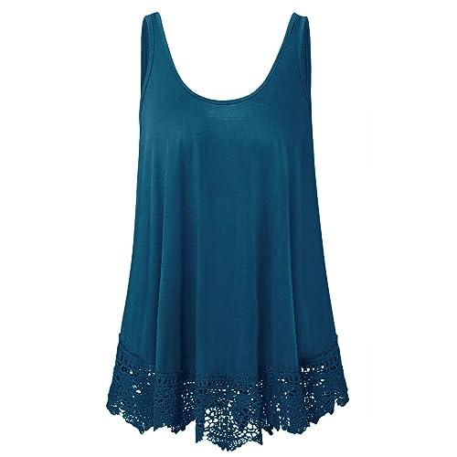 516dfa7d4b398 Plus Size Swing Lace Flowy Tank Top for Women