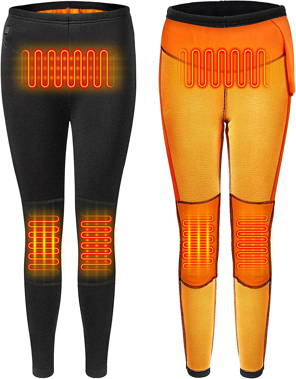 Heated Pants Thermal Underwear for Women USB, Electric Heating Leggings Fleece Lined for Winter Outdoor (No Battery)
