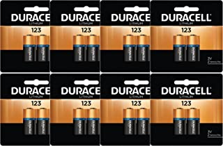 16 x Duracell DL123A CR123A 3 Volt Photo Lithium Batteries for flashlights in Original Packaging (8 x 2)