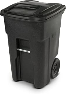 Toter 25548-R1209 Residential Heavy Duty Two Wheeled Trash Can, 48 gallon, Blackstone